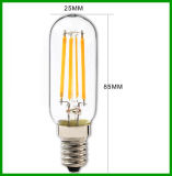 bulbo ligero del filamento del bulbo LED Dimmable LED de 2W E14 T25 con el Ce RoHS