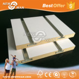 Nut und gekerbtes Latte-Wand MDF-Panel mit Aluminiumlegierung-Profil