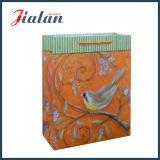 O papagaio logotipo barato Desigon animal impresso personaliza o saco de anúncio de papel