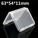 Caso trasparente 63*54*11mm della plastica pp di alta qualità eccellente per memoria personale