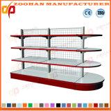 Prateleira dobro personalizada alta qualidade da compra do supermercado da gôndola dos lados (ZHs622)