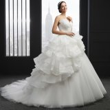 Schatz-Sleeveless bördelndes Hochzeits-Kleid (SL-038)
