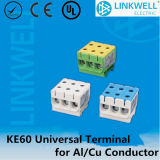 Alta temperatura de 2,5 mm a 50 mm de Al Cu Conductor Cable eléctrico Conexión de bloque de terminales (KE61.1)