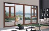 Ventana de madera revestida de aluminio del marco de la doble vidriera