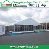 ガラス壁が付いている大きい展覧会の玄関ひさしのテント