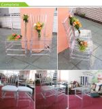 Transparente Clear Know Down Plastic Wedding Resin Chiavari Chair