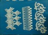 Água quente da venda - laço solúvel do casamento do poliéster do laço de Embroideried