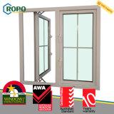 Disegno francese di plastica della griglia di finestra di vetro della stoffa per tendine di UPVC/PVC