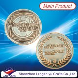 Gold Silver Copper Medal Collective Coins, Temple Commemorative Copper Medallion, Souvenir Embossed Logo Numéros de gravure Badge Coin