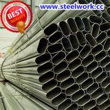 Pipe en acier spéciale recuisante galvanisée par ERW de section de Weled (à plat ovale)