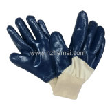 Il nitrile a metà giallo dei guanti di NBR ha tuffato il guanto del lavoro di sicurezza dei guanti