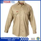 Les chemises bon marché de travail vendent les chemises en gros de vêtements de travail (YWS115)