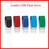 Mecanismo impulsor del flash del USB del cuero de la impresión de la insignia del soporte USB3.0