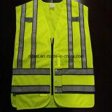 Популярные полиции безопасности возлагают ткань 100%Polyester гриппа желтую