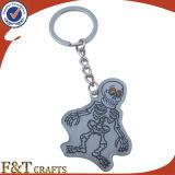 Animal barato formado haciendo publicidad del metal Keychains (FTKC1842A) de la foto de Digitaces