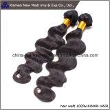 Tessuto naturale dei capelli umani di colore dei capelli umani dell'onda del corpo