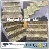 Escadas de pedra naturais amarelas Polished de Grantie/Step&Riser para o assoalho interior/em cima