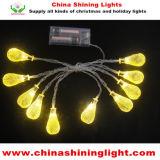 暖かく白く黄色いカラー1m電池式LED党ライト