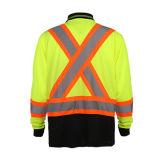 Chemise de polo r3fléchissante de longue visibilité élevée de chemise