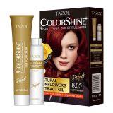Colore permanente cosmetico dei capelli di Tazol Colorshine (colore rosso di rame) (50ml+50ml)
