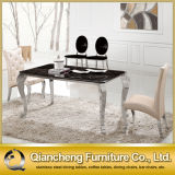 Four Legs Silver Colorの優雅なMarble Top Dining Table