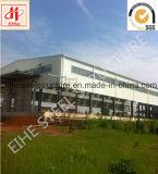 Edificio prefabricado del almacén del marco de acero del bajo costo de la alta calidad