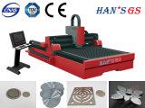 Máquina de estaca do laser da fibra do CNC da fábrica de Wuhan para o aço inoxidável, aço suave, liga
