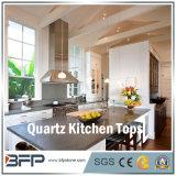 Quartzo preto, pedra artificial, quartzo branco, lajes de quartzo para a bancada da cozinha