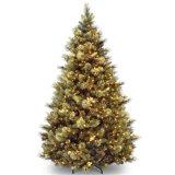 Parede personalizada do diodo emissor de luz que pendura a árvore de Natal dourada do baixo preço com luz do diodo emissor de luz