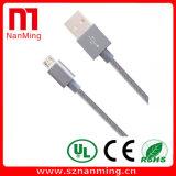 Cabo cobrando do USB do cabo trançado de nylon do relâmpago de 8 Pin com alumínio para o iPhone