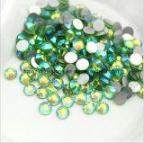 못 아트 데코 (FB ss16 투명 감람석 ab/3A)를 위한 비 Ss4 Ss6 Ss8 Ss10 편평한 뒤 Hotfix 모조 다이아몬드