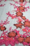 Ткань шнурка сетки вышивки Floret типа способа для Одевать и домашнего тканья повелительницы