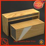 Vector de madera de madera de la visualización de la unidad de visualización para el almacén