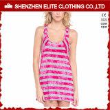 Les dames amincissent le singulet en bonne santé de grillage de coton de polyester d'impression de couleur (ELTWBJ-391)