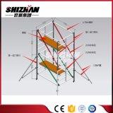 Fáciles al por mayor instalan el andamio móvil de aluminio de la prolongación del andén del marco de H
