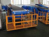 Телескопичный транспортер ленточного транспортера заграждения 4 разделов/