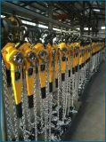 поставка фабрики подъема рукоятки руки храповика 3t ручная цепная поднимаясь