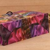 Saco de compra colorido recicl 100% do papel de arte de pano com punho
