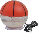 Ambientador agua-aire de escritorio del USB de la dimensión de una variable del baloncesto mini