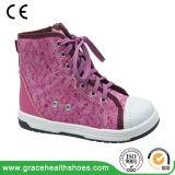 Hoge Laarzen van het Kalf van de Laarzen van de Gezondheid van de Winter van meisjes de Wol Gevoerde met de Achterste Steun van de Stabiliteit