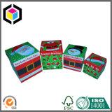 Deux parties de carton de Noël de boîte-cadeau rigide de papier avec le couvercle