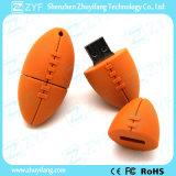 De Aandrijving van de Flits van de Vorm USB van het Rugby van de douane voor Gift (ZYF5045)