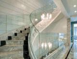 Vidrio plano Tempered/laminado de encargo del edificio del carril de protector de las escaleras