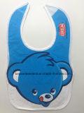 I prodotti dell'OEM della fabbrica hanno personalizzato le busbane francesi molli stampate fumetto del bambino blu della Jersey del cotone dell'orso di marchio