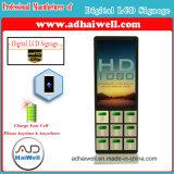 """42 """" рекламируя зарядную станцию черни кабеля Mfi локеров Signage LCD цифров электронную"""