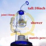 Tubo di acqua di fumo di vetro con l'acquazzone del riciclatore del favo
