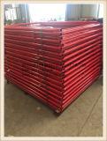 Qualitäts-Farbanstrich und Puder-überzogene Baugerüst-Strichleiter-Rahmen