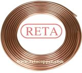 Tubulação padrão do cobre da bobina da panqueca do Refrigeration de En1057 ASTM B280 R410A