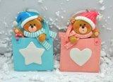 Ornamentos 2016 de la Navidad del arte de la arcilla del polímero del color del bebé