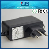 Brazilië 3pin Plug 12V 1A 12W Wall Plug in Adapter